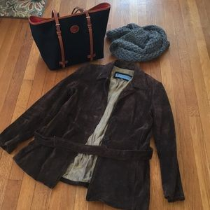 Kenneth Cole brown leather size M jacket